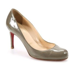 Christian Louboutin Gray Patent Pumps - Size 35.5
